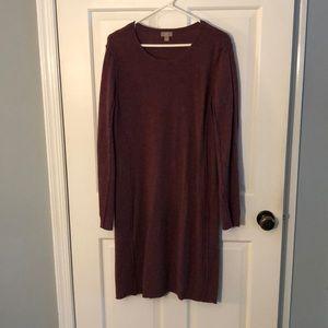 J Jill Wool Cashmere Wine Sweater Dress